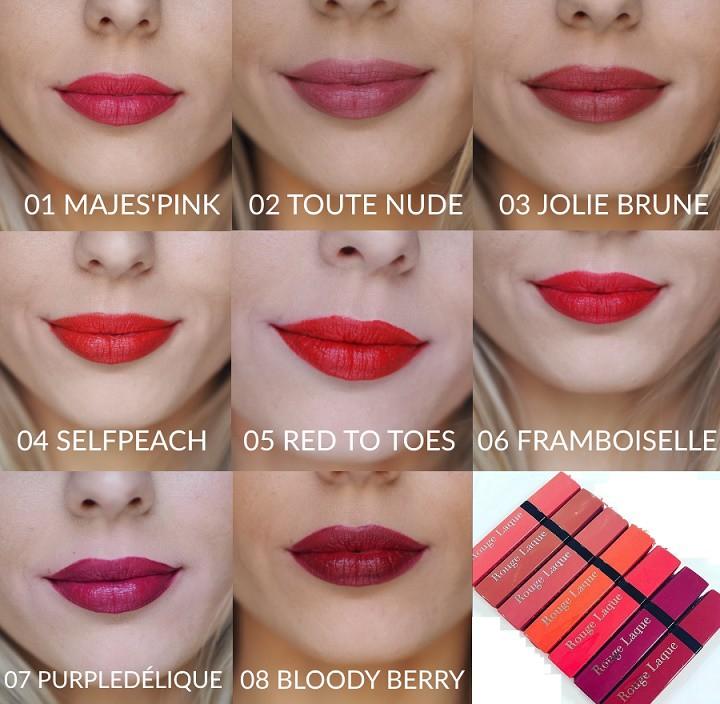 Bourjois Rouge Laque Liquid Lipstick Review & Swatches
