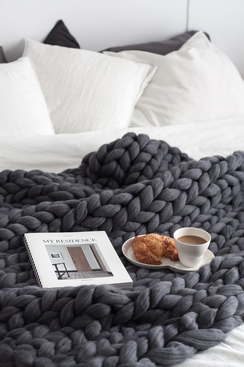 The best chunky knit blanket - charcoal / dark grey charcoal chunky knit throw