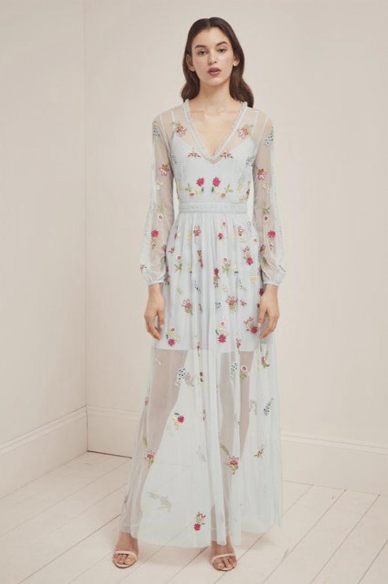 brands like needle & thread / dresses like needle & thread / french connection chiffon dress