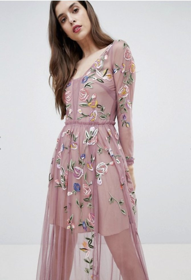 brands like needle & thread / dresses like needle & thread / french connection tulle dress