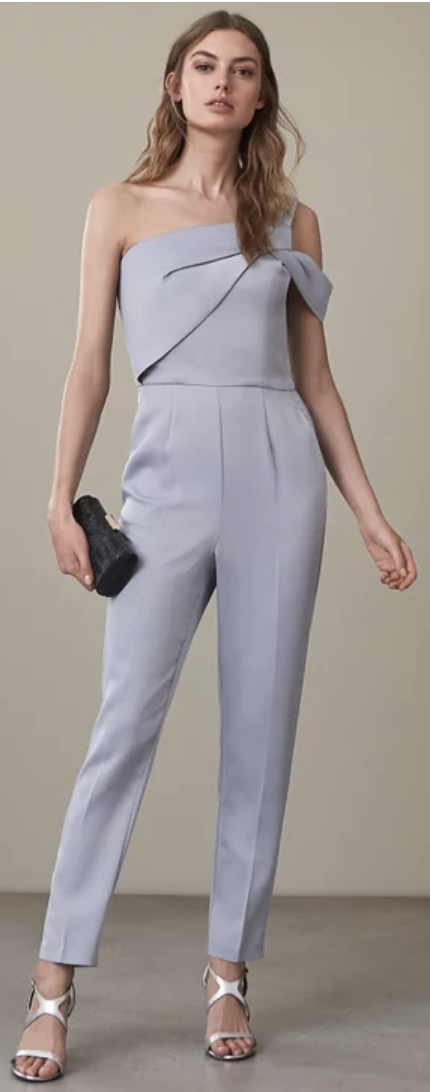 grey classy jumpsuits for weddings
