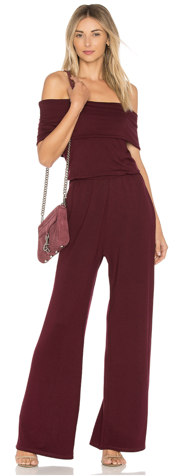 burgundy jumpsuits for wedding guest