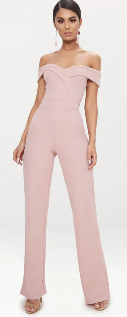 blush affordable dressy jumpsuits for weddings