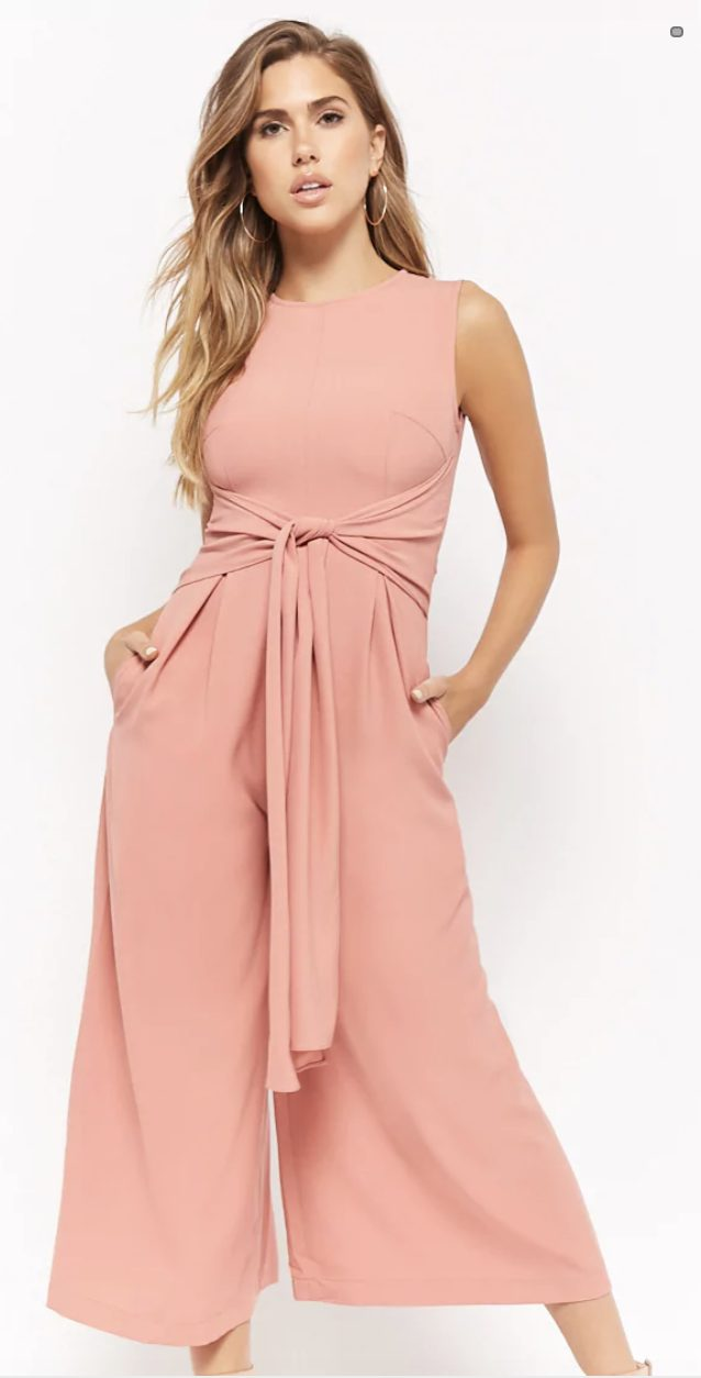 pink jumpsuits for wedding guest