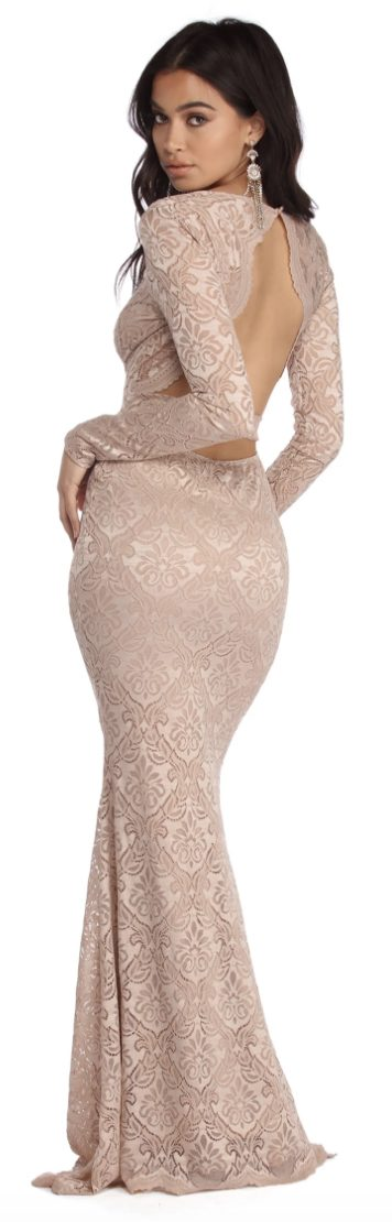nude evening gowns like Abyss by Abby