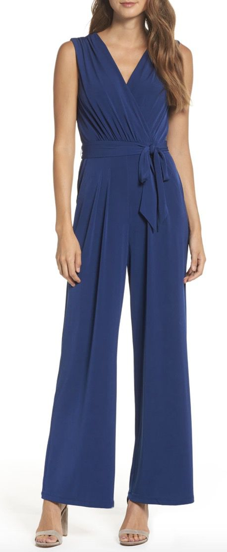 Blue classy jumpsuits for weddings