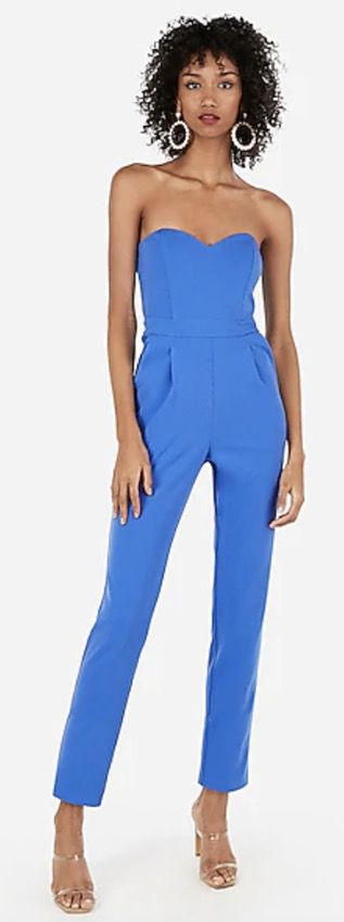 Strapless classy jumpsuits for weddings