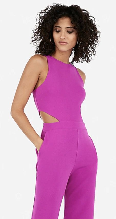 Hot pink classy jumpsuits for weddings