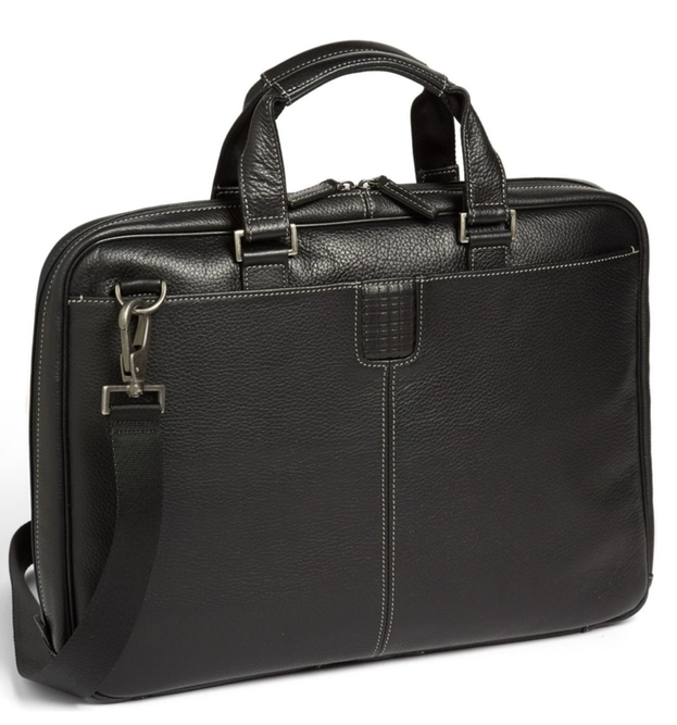 Gifts for guys with expensive taste: leather briefcase