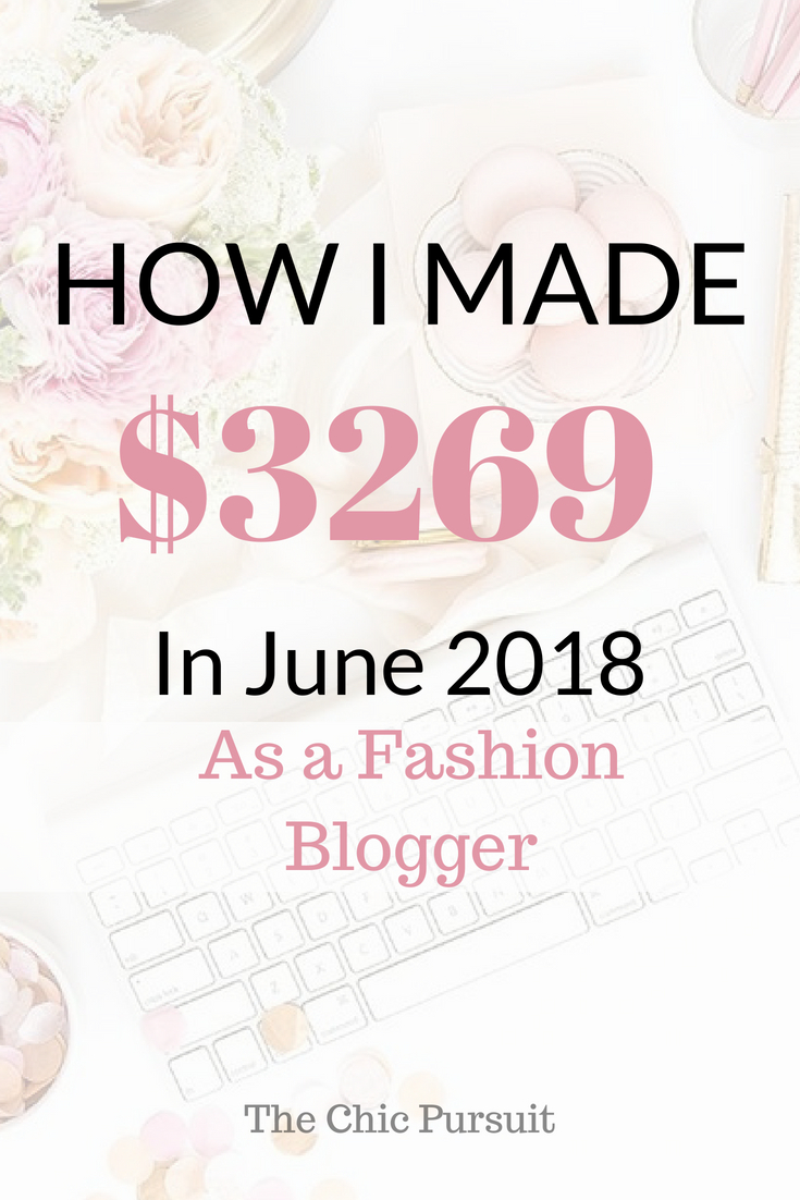 How I Made $3,300 This Month As A Fashion Blogger | Income Report