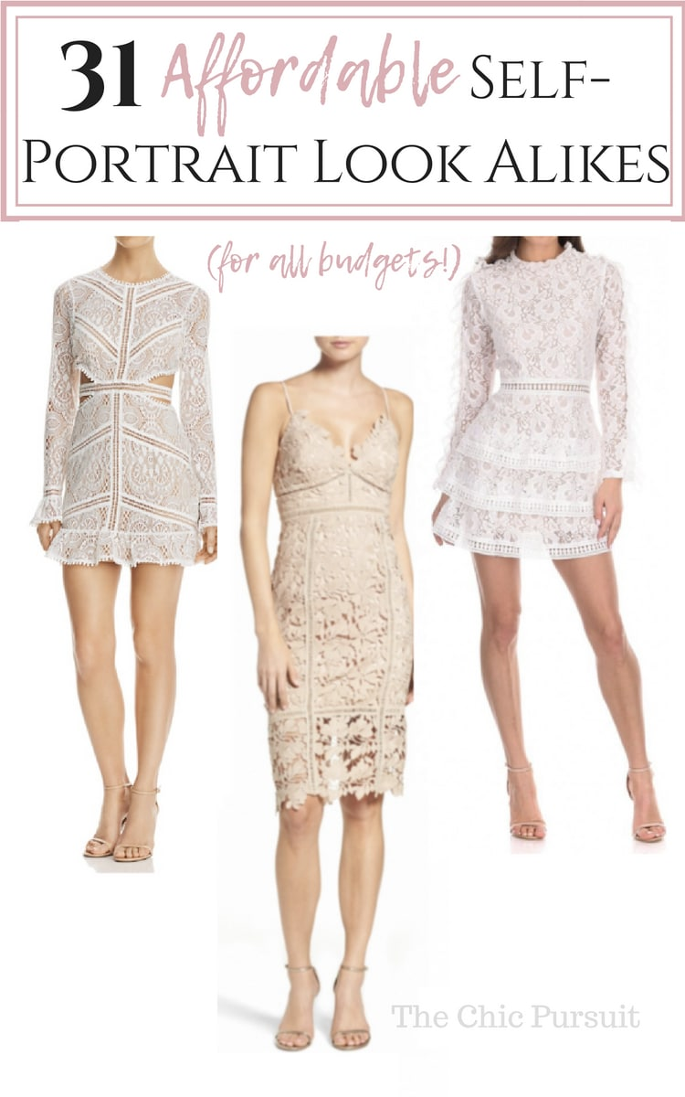 31 Best Self Portrait Look Alike Dresses (That Won't Break The Bank!) - perfect for wedding guests and available in a variety of colours: red, pink, blue, white and more!