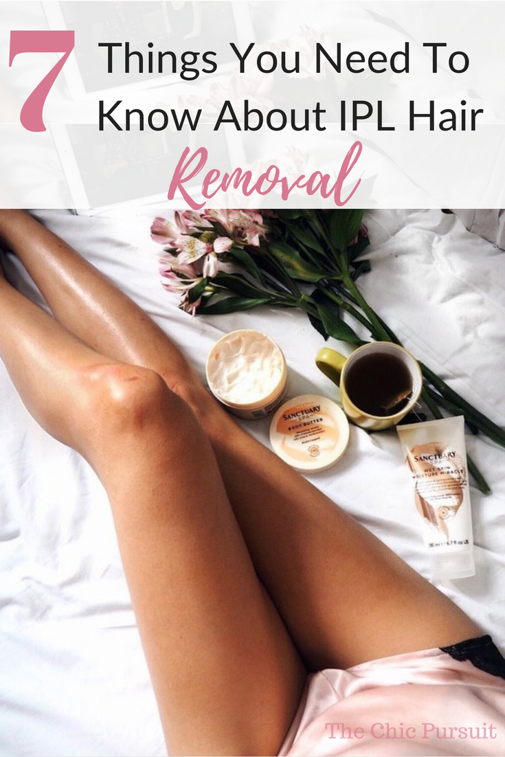 7 Things You Need To Know About IPL Hair Removal - What results to expect, if it's better to do at home or in spas, if it works best for bikini, underarms or legs, and how it compares to laser. For this info and more, head over to The Chic Pursuit to read the whole article!
