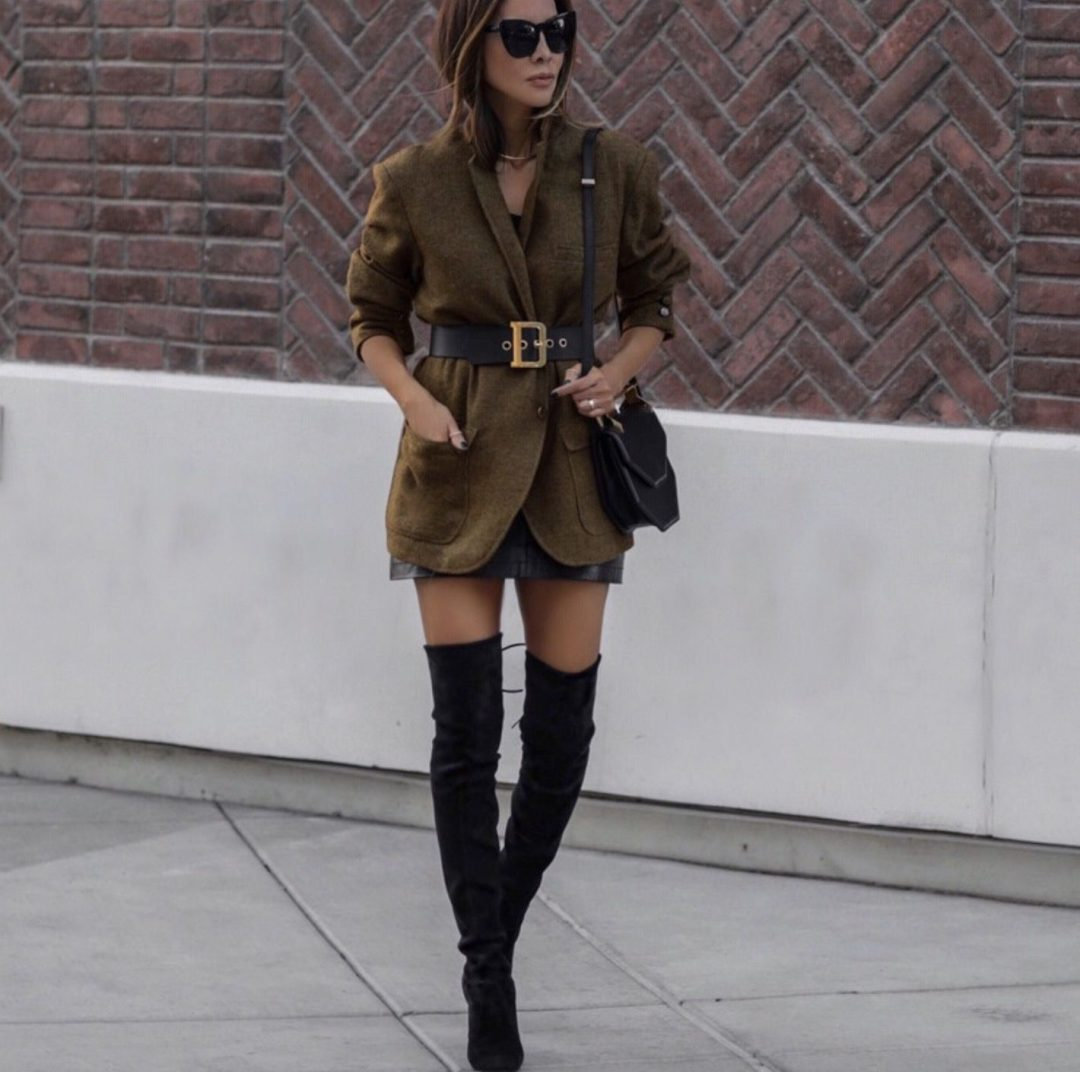 How to style over the knee boots outfits