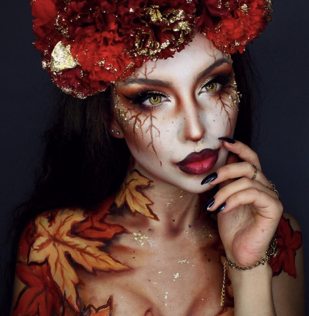 Fantasy makeup looks for Halloween: Fall inspired makeup