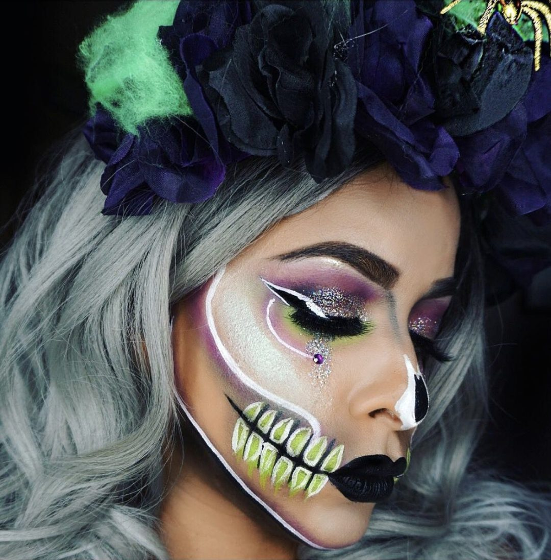 Colorful skull makeup ideas