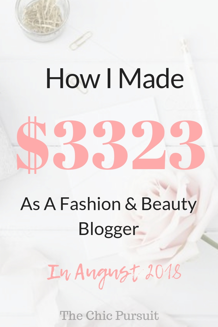 August Income Report – $3,323