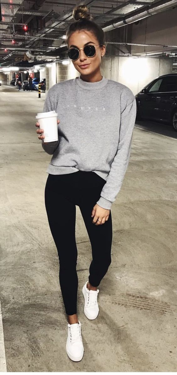 Cozy athleisure outfits and airport outfits