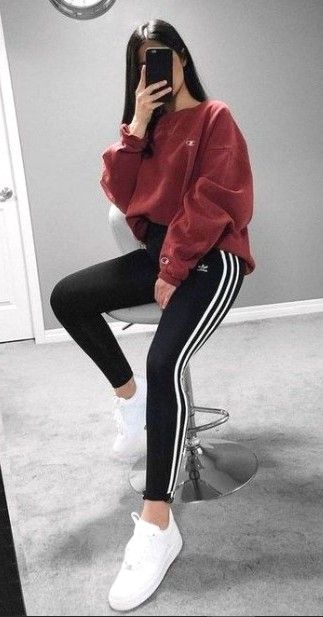 Cute Adidas outfits for women with hoodie