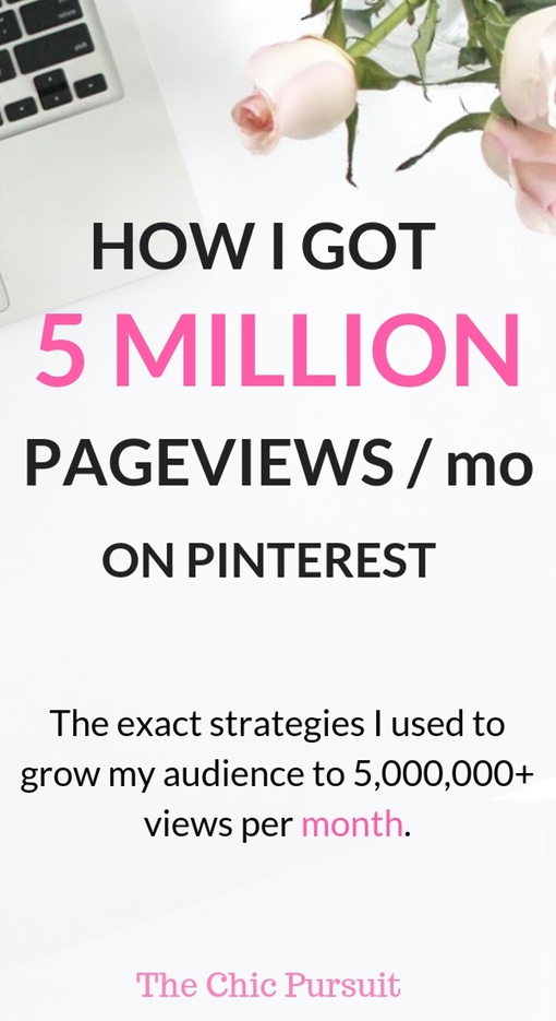 How I got 5 Million Pageviews On Pinterest With Little Effort - Learn how to grow Pinterest traffic and achieve blog growth! This ultimate Pinterest course & Tailwind Tribes strategy planner is for you if you've tried everything with Pinterest but gotten zero results! Increase Pinterest views, learn Pinterest marketing strategies , Pinterest SEO, Pinterest tips, how to use Tailwind Tribes and how to get Pinterest traffic to your blog! #pinterestmarketingstrategies #pinterestmarketing #tailwindtribes #pinterestcourse