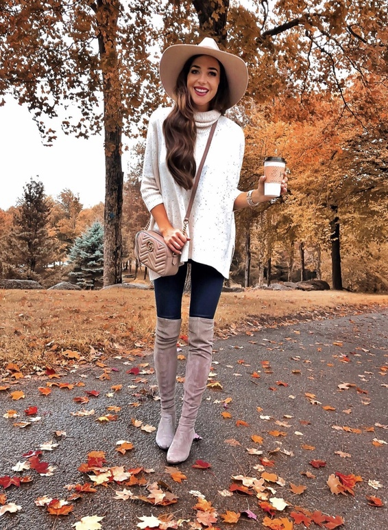 21+ Winter Outfits To Copy ASAP: Wool Hat Outfit. These casual winter outfits will keep you warm when other cold weather outfits may fail you. Check out these over the knee boot outfit looks, sweater outfits and other winter fashion outfits from the biggest fashion bloggers to get inspired now! Image ©LC_Steele #winterfashion #winteroutfits #overthekneeboots