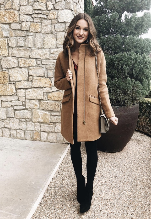Chic camel cocoon coat outfits for fall