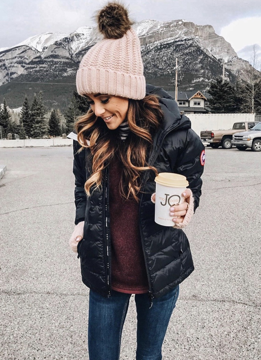 Casual winter outfits with beanie
