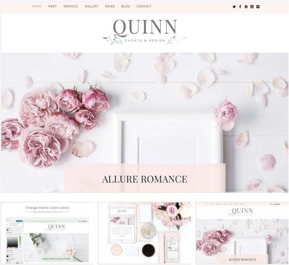 Feminine blog design by BluChic