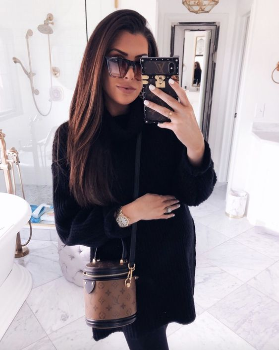 Chic casual outfits with sweaters and Celine sunglasses