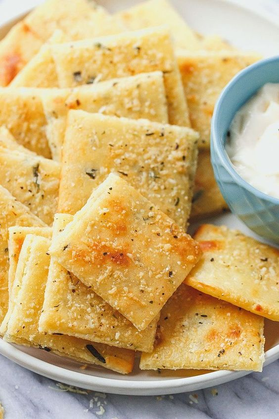 Keto Low Carb Cheese Crackers