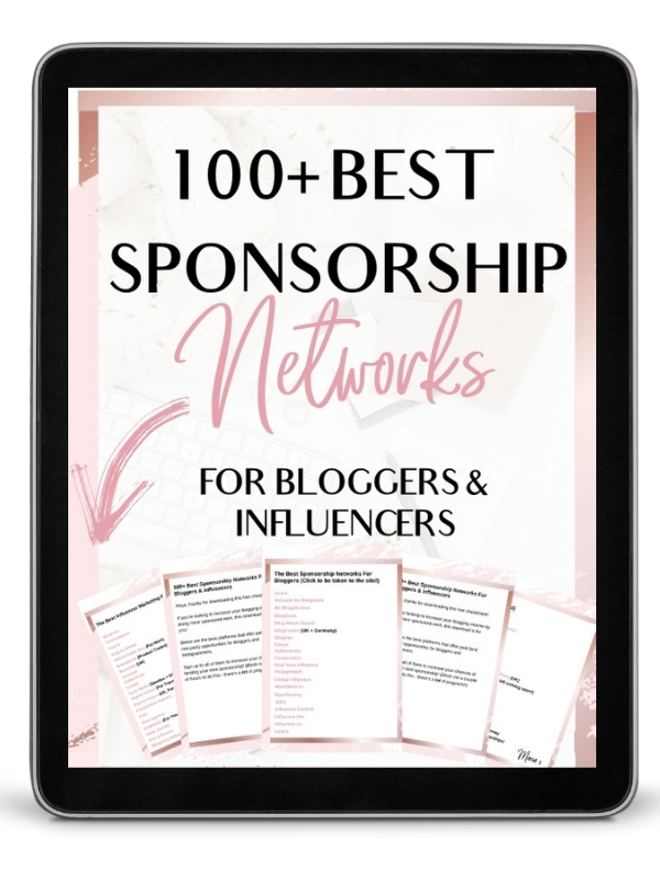 100 Best Sponsorship Networks For Bloggers & Instagram Influencers - Discover one of the best ways to make money blogging for beginners, fast! If you want to monetize your blog, check out these paid blogging sites to get you that pay check quicker! #sponsorship #sponsorshipsforbloggers #makemoneyblogging