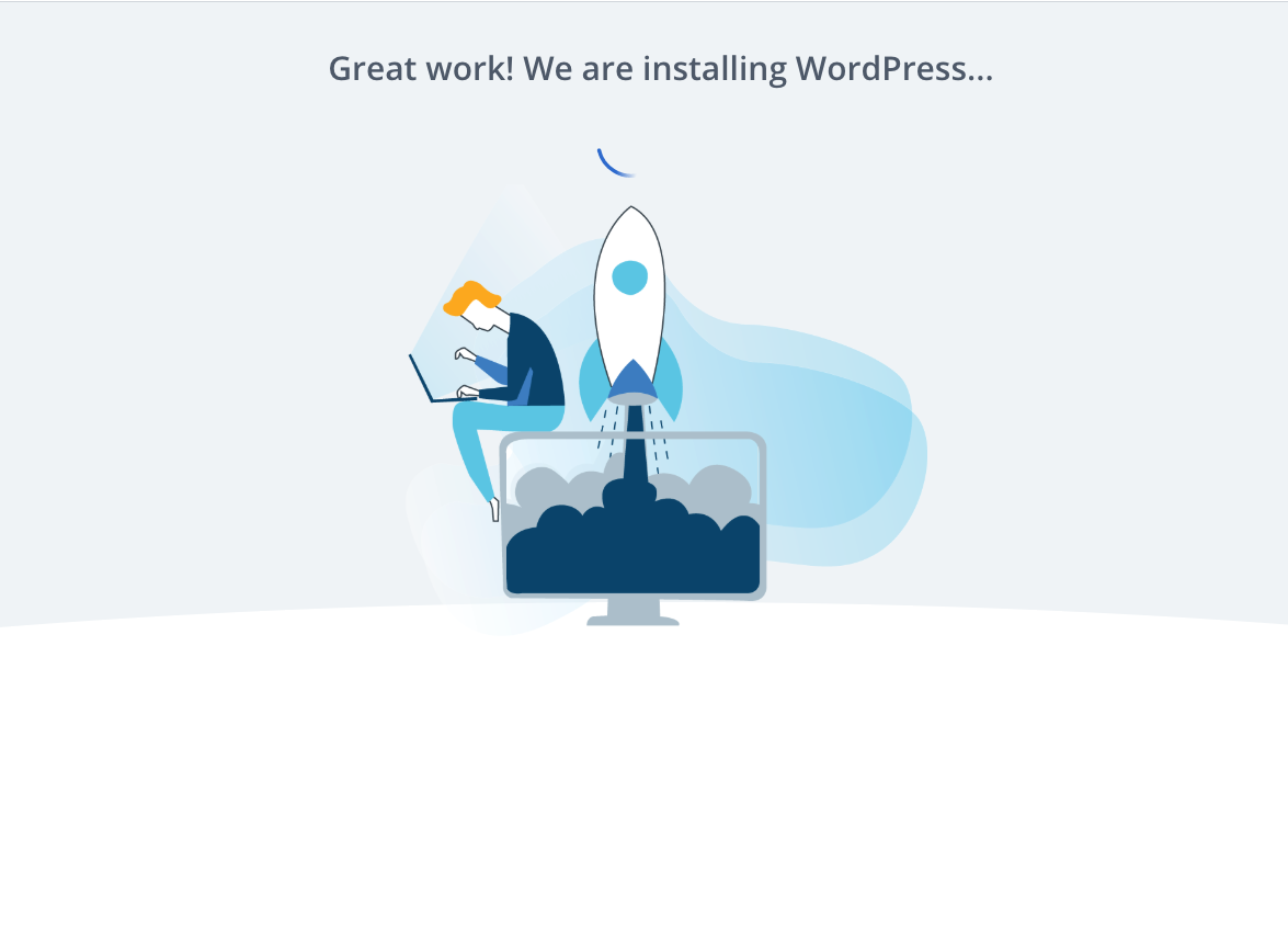 Bluehost instructions on how to set up a blog and install WordPress