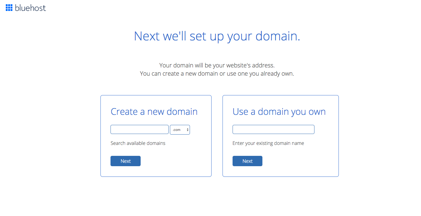 Bluehost instructions on how to set up a blog