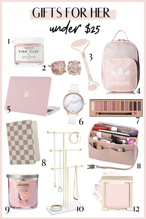 Affordable luxury gifts for her - gifts under $25 for her
