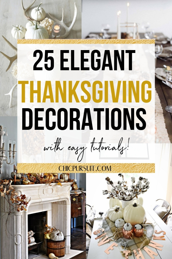 25+ Easy DIY Thanksgiving Decorations To Do At Home This Year