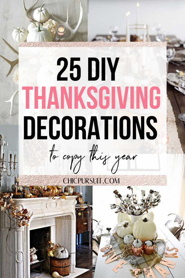The best easy DIY Thanksgiving decorations that are elegant
