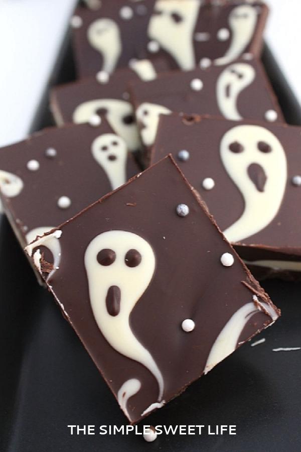 Fun Halloween Food Ideas For Kids: Ghost Candy Bark