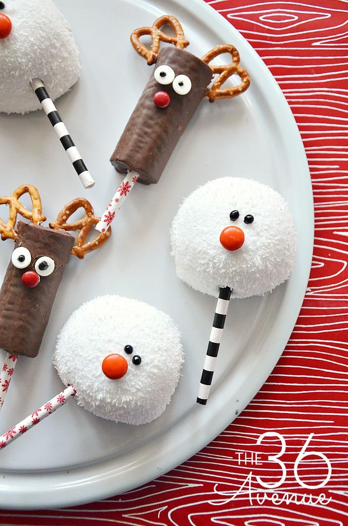 Easy Reindeer & Snowman Christmas Treats