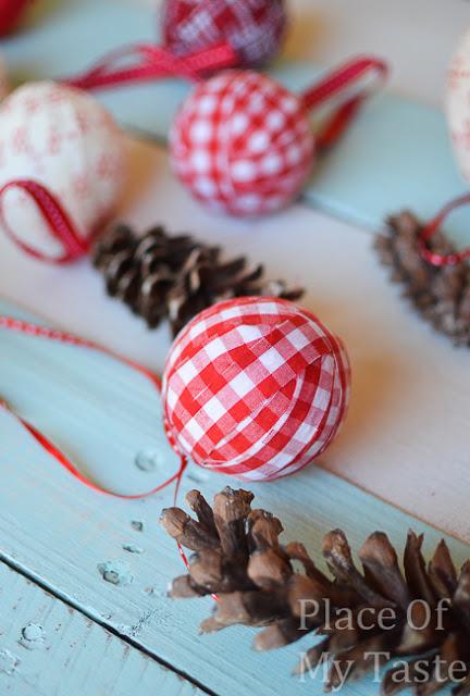 DIY Fabric Christmas Ornaments