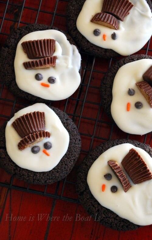 Best Christmas desserts: Melted Snowmen Cookies