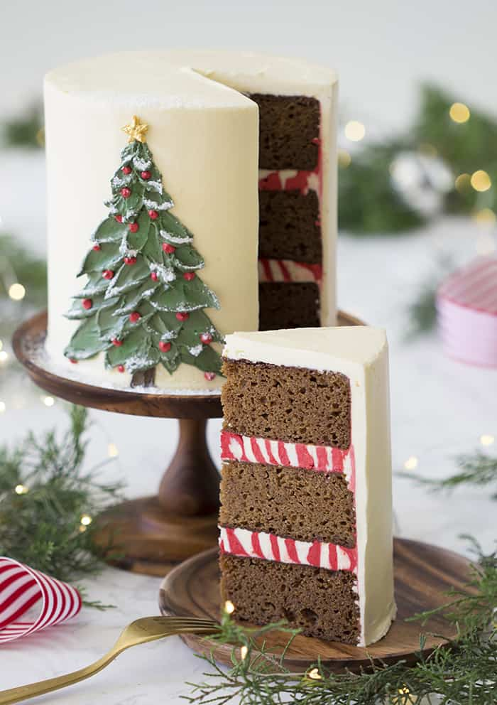 Christmas Cake Idea With Peppermint