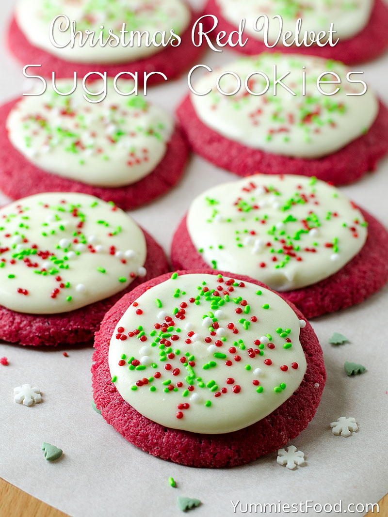 Christmas Red Velvet Sugar Cookies