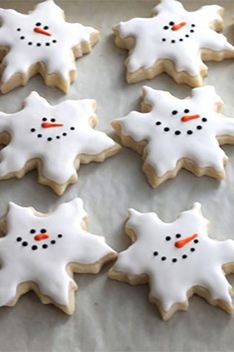 Snowman Snowflake Sugar Cookies