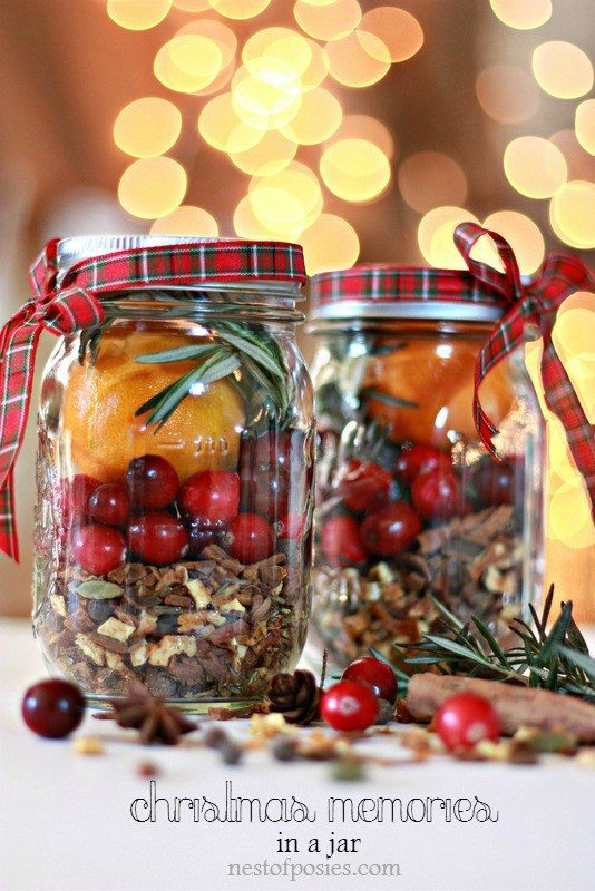Christmas Memories In A Jar Craft
