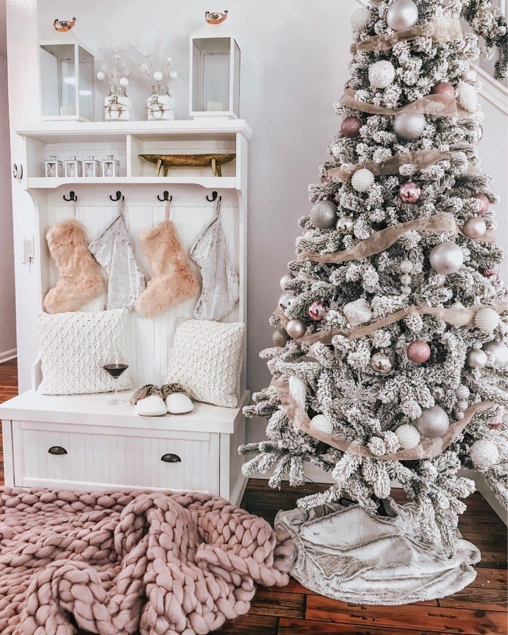 Rose gold Christmas tree