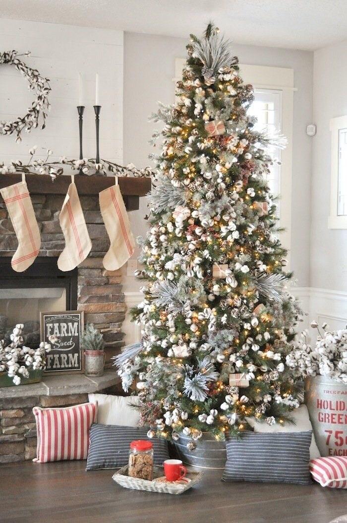 Elegant rustic Christmas tree ideas