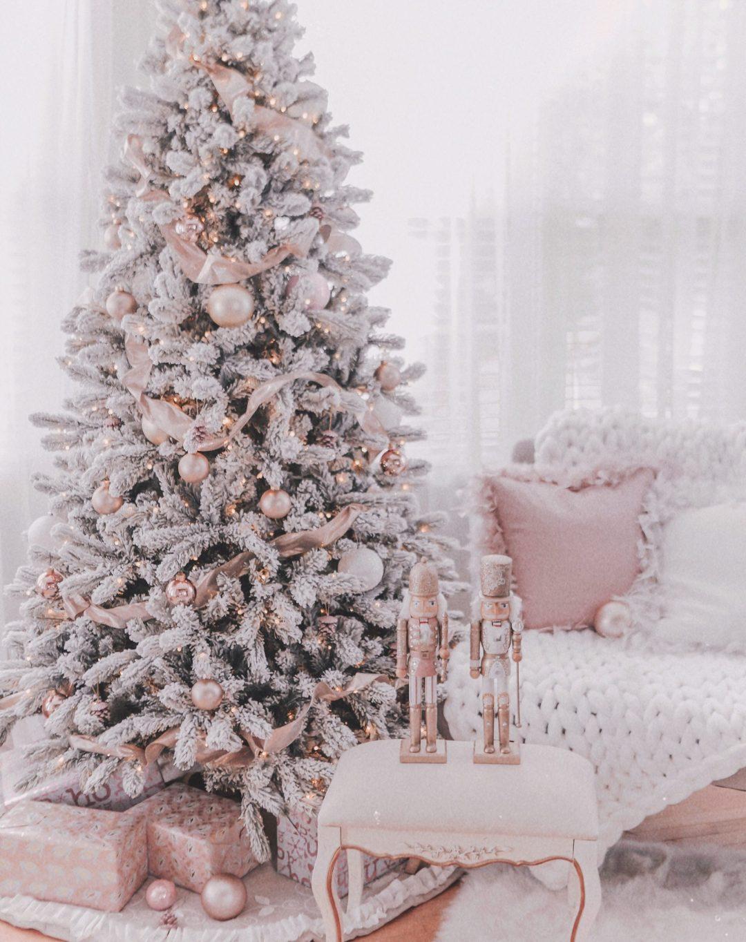 Rose gold Christmas tree ideas