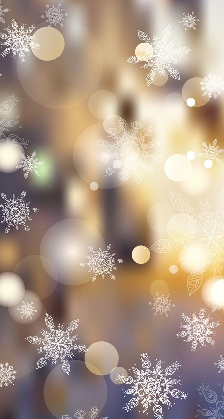 Cute Christmas wallpaper iPhone with snowflakes