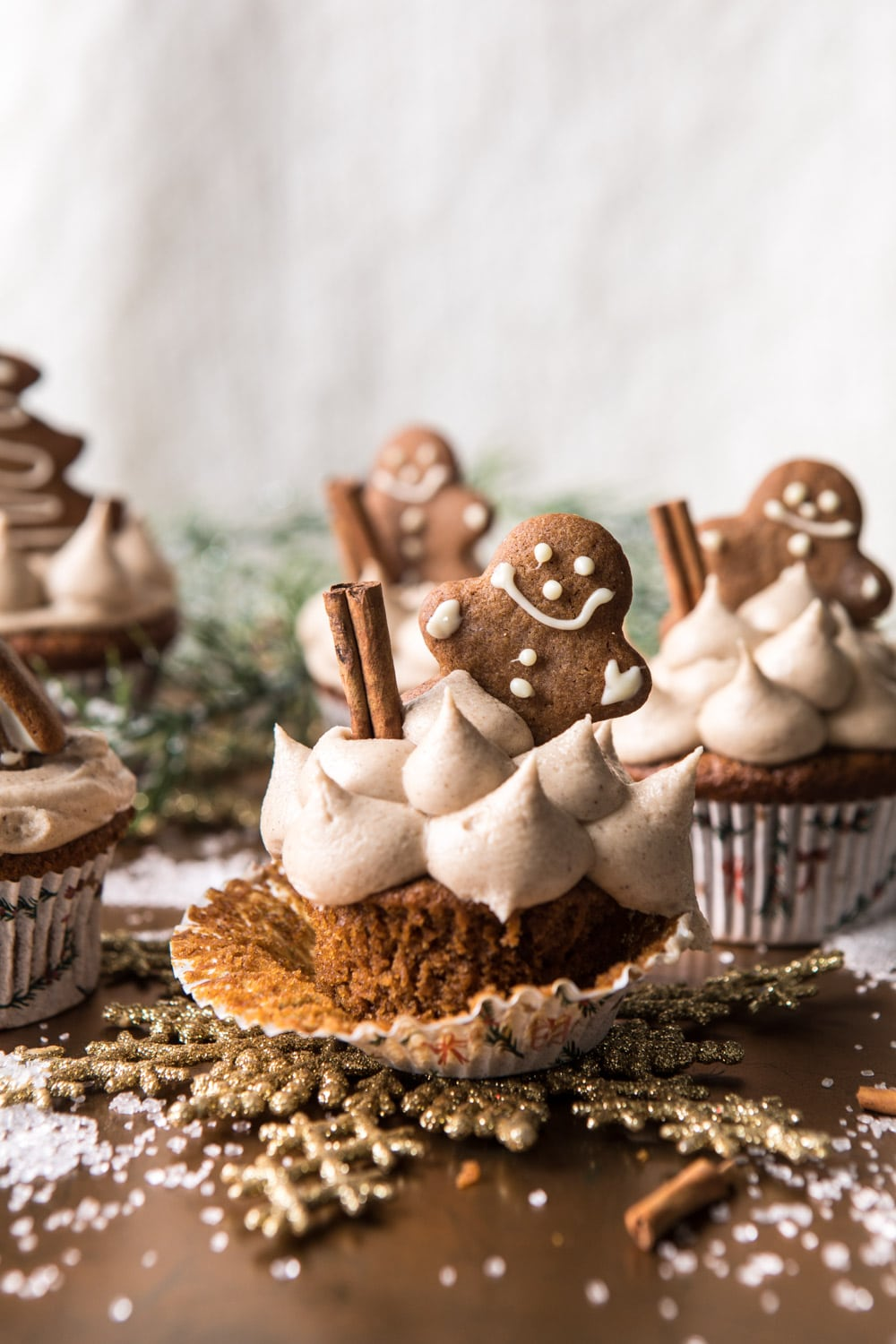 Best Christmas desserts: Gingerbread Cupcakes With Cinnamon & Buttercream