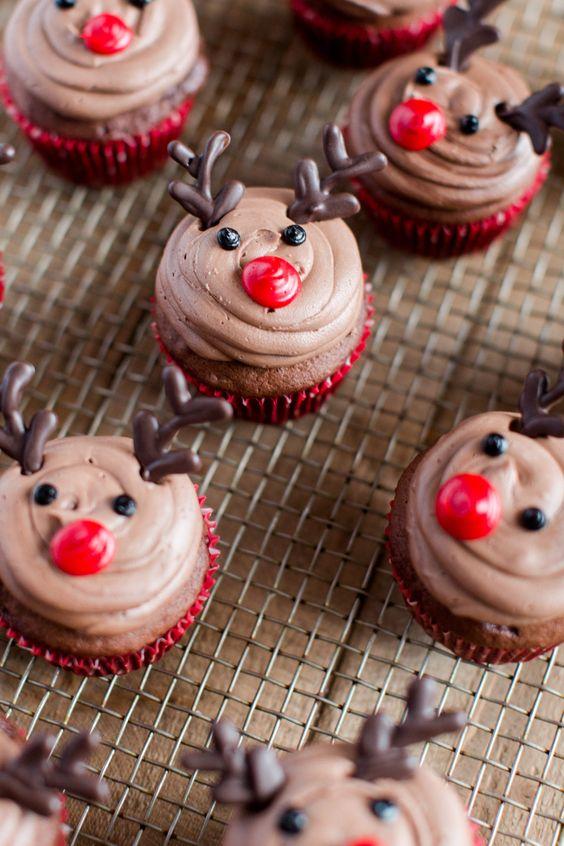 Best Christmas desserts: Easy Reindeer Cupcakes