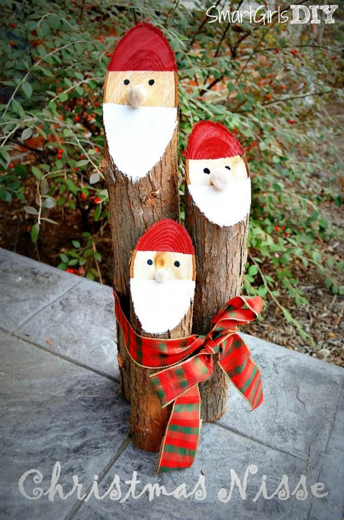 DIY Santa Logs Christmas Craft For Adults